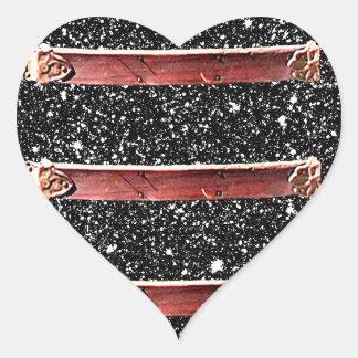 Black Sparkly Goth Leather Stars CricketDiane Heart Sticker