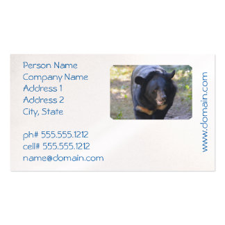 Black Spectacled Bear Business Card