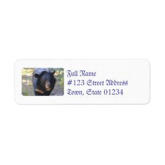 Black Spectacled Bear Label