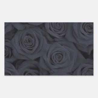 Black Spectacular Roses Rectangular Sticker