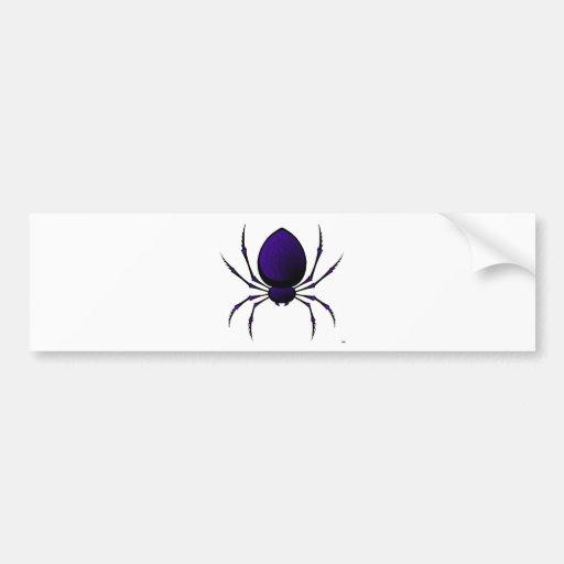 Black Spider Bumper Sticker