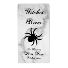 Black Spider Classy Marble Wine Label