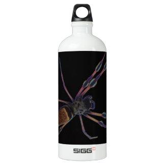 Black spider creeping and crawling SIGG traveler 1.0L water bottle