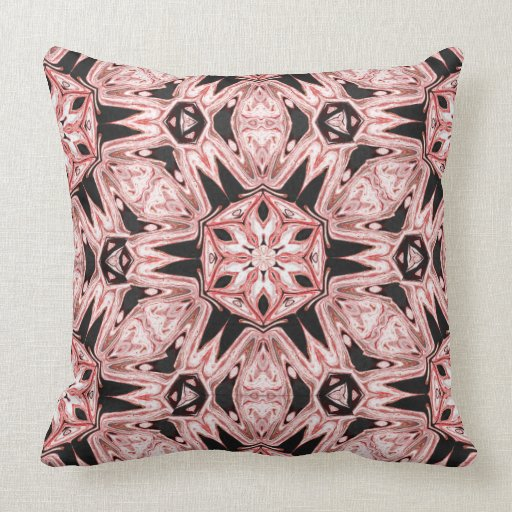 Dark Coral Throw Pillows : Black Spider Fangs Coral Throw Pillow Zazzle