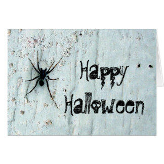 Black Spider Greeting Card