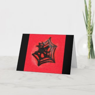 Black Spider Greeting Cards card