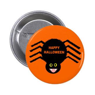 Black Spider Halloween Button