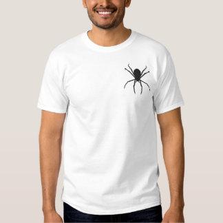Black Spider Halloween Goth Fantasy Design Embroidered T-Shirt