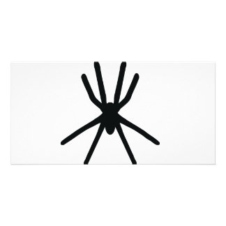 black spider icon photo greeting card