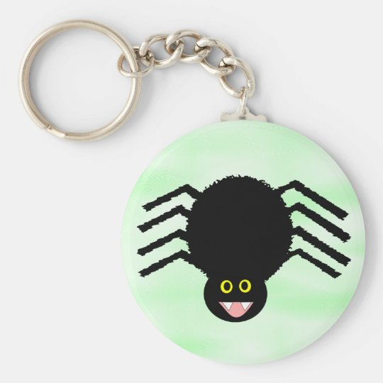 Black Spider Keychain