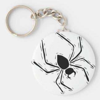 Black spider keychains