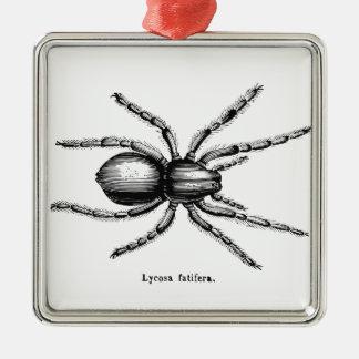 Black spider metal ornament