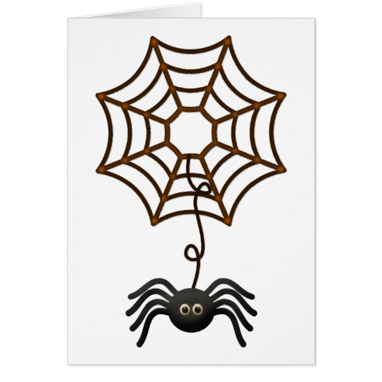 Black Spider on a Web Card