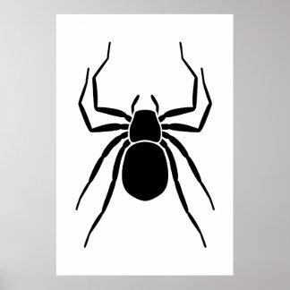 Black Spider Poster