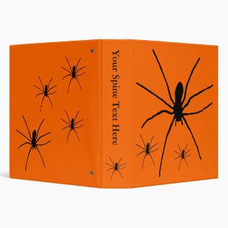 Black Spider Template 3 Ring Binder