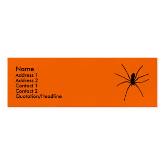 Black Spider Template Double-Sided Mini Business Cards (Pack Of 20)