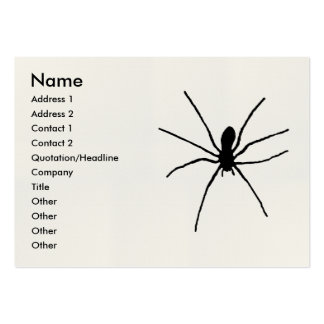 Black Spider Template Business Card