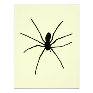 Black Spider Template Card