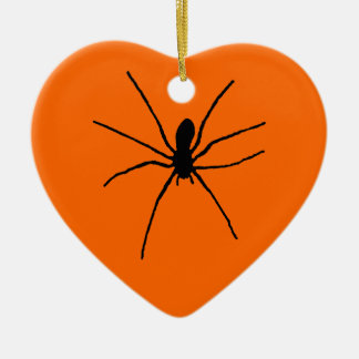 Black Spider Template Ceramic Ornament