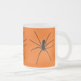 Black Spider Template Frosted Glass Coffee Mug