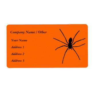 Black Spider Template Shipping Label