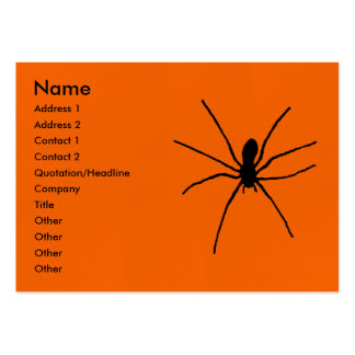 Black Spider Template Large Business Card
