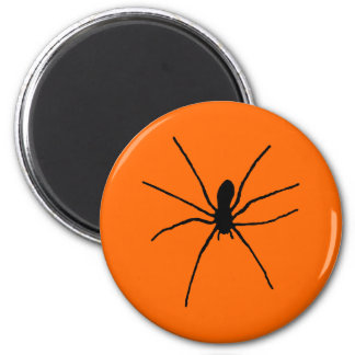 Black Spider Template Fridge Magnets