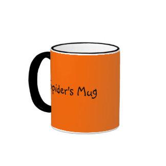 Black Spider Template Ringer Mug