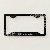 Black Spider Themed License Plate Frame