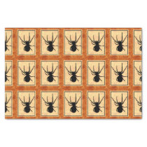 Black Spider Tissue Paper