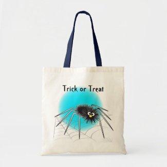 Black Spider Trick or Treat Bag