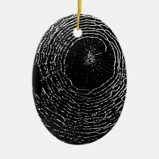Black Spider Web Ornament