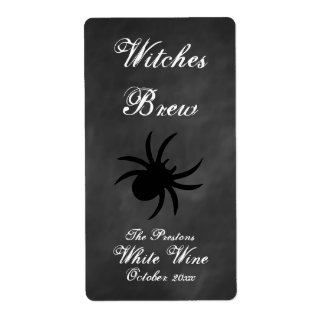 Black Spider Wine Label Shipping Label