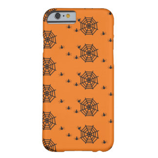 Black spiders and spider webs Halloween Barely There iPhone 6 Case