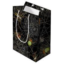 Black Spiders Net Gift Bag - Medium, Matte