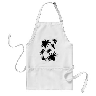 Black Spiders Pattern Adult Apron