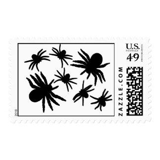 Black Spiders Pattern Postage Stamp
