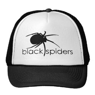 Black spiders trucker hat