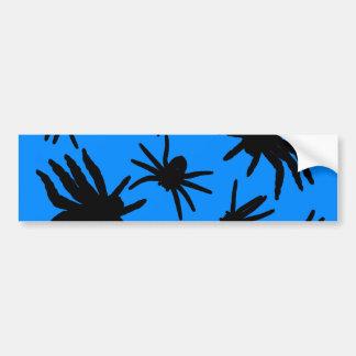 Black Spiders With Blue Background Bumper Sticker