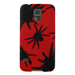 Black Spiders With Red Background Case For Galaxy S5