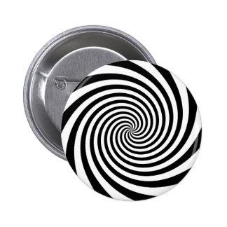 Black Spiral 2 Inch Round Button