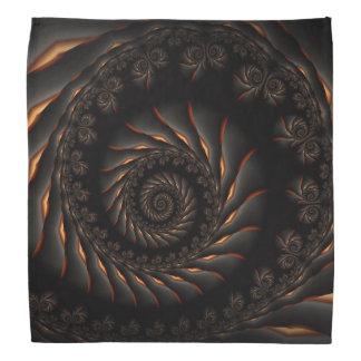 Black Spiral Fractal Bandana
