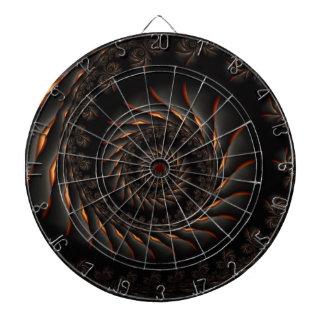 Black Spiral Fractal Dart Board
