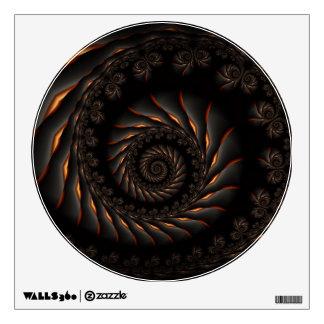 Black Spiral Fractal Wall Decal