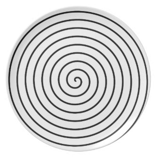 Black spiral plate