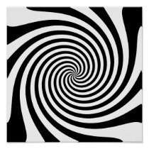 Black Spiral Poster