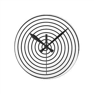 Black spiral round clock