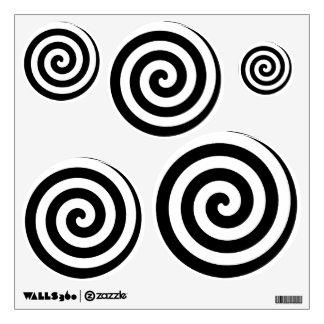 Black Spiral Swirl Teen Girl Boy Wall Decal