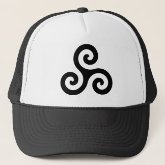Black Spiral Triskele Trucker Hat