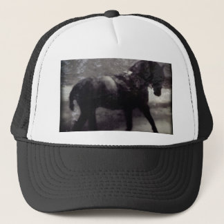 Black Spirit Horse Trucker Hat